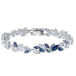 Swarovski Anniversary Louison Bracelet 2020 - White and Blue - 5536548