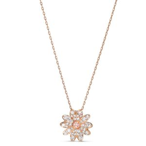 Swarovski Eternal Flower Pendant Necklace - Rose Gold Tone Plating