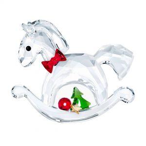 Swarovski Crystal Rocking Horse Happy Holidays Ornament 5544529