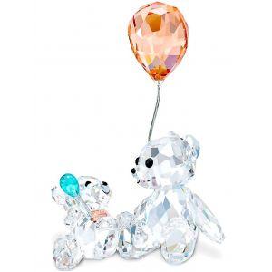 Swarovski Crystal Kris Bear Mother and Baby