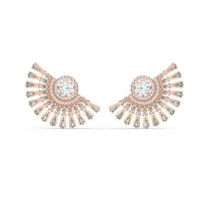 Swarovski Sparkling Dance Dial Up Pierced Earrings - Rose Gold Plating 5558190