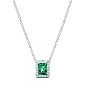 Swarovski Angelic Rectangular Necklace - Green