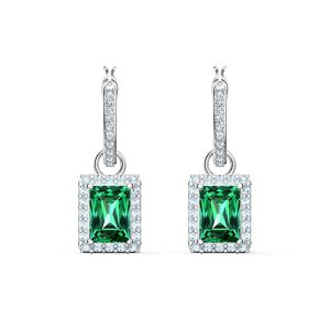 Swarovski Angelic Rectangular Pierced Earrings - Green 5559834