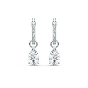 Swarovski Attract Pear Mini Hoop Pierced Earrings 5563119