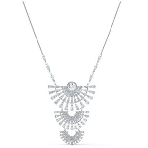 Swarovski Sparkling Dance Dial Up Pierced Necklace - Rhodium Plated 5564432