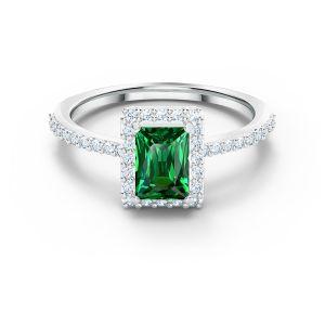 Swarovski Angelic Rectangular Ring - Green  5572663, 5559835, 5572659