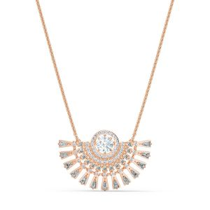 Swarovski Sparkling Dance Dial Up Necklace - Rose Gold Plating 5578116