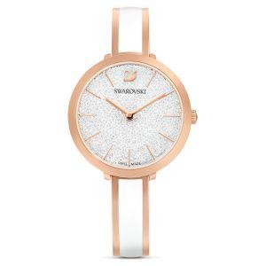 Swarovski Crystalline Delight Watch - White with Rose Gold Plating