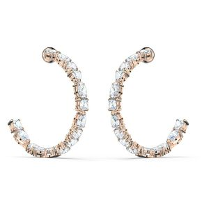 Swarovski Tennis Deluxe Hoop Earrings - Rose Gold Plated 5585438