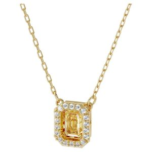 Swarovski Millenia Dancing Crystals Square Necklace - Gold Tone Plated