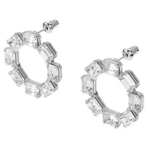 Swarovski Millenia Earrings - White with Rhodium Plating