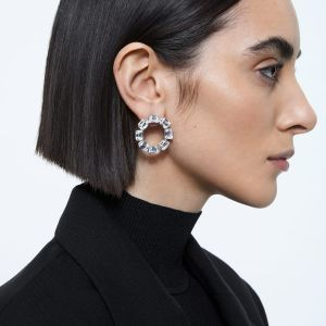 Swarovski Millenia Earrings - White with Rhodium Plating