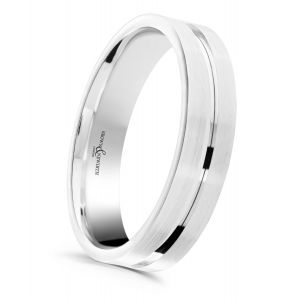 Brown & Newirth 'Atom' Wedding Band, For Him