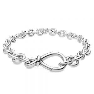 Pandora Chunky Infinity Knot Chain Bracelet-598911c00-16, 598911c00-18, 598911c00-20