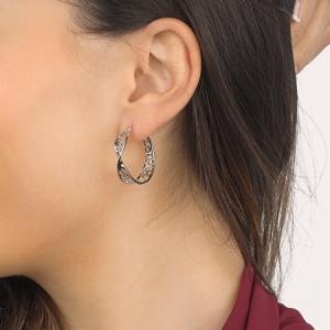 Kit Heath Blossom Flourish Large Hoop Earrings