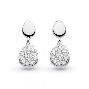Kit Heath Coast Pebble Glisten Drop Earrings 60188CZ029