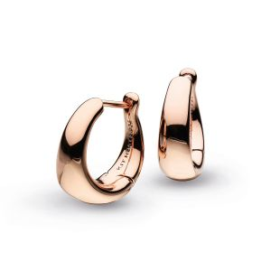 Kit Heath Bevel Cirque Small Hinged Hoop Earrings Rose Gold 6175RG024