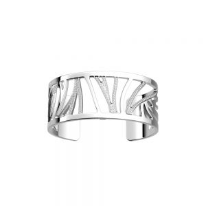 Les Georgettes Perroquet Bracelet - 25mm Silver and Zirconia
