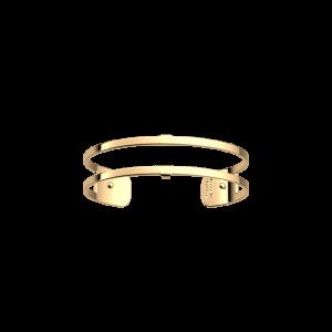 Les Georgettes Pure 14mm Gold Finish Bangle Cuff