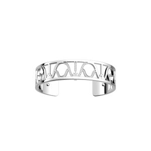 Les Georgettes Paon 14mm Silver Finish Bangle Cuff