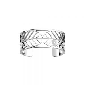 Les Georgettes Faucon Bracelet - 25mm Silver and Zirconia
