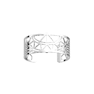 Les Georgettes Talisman Bangle Cuff - 25mm - Silver Plated 703608316