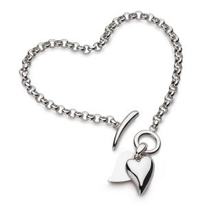 Kit Heath Kit Heath Desire Love Duet Heart T-Bar Bracelet 70507RP
