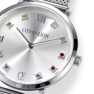 Coeur De Lion Watch - Silver Sunray with Milanese Strap