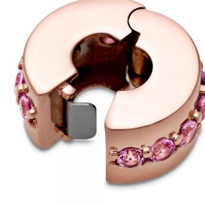 Pandora Rose Pink Sparkling Row Clip Charm 781972C01