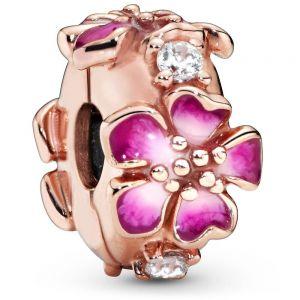 Pandora Rose Pink Peach Blossom Flower Clip Charm 788099CZ