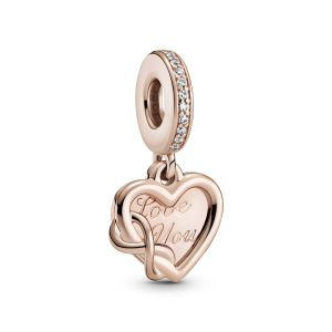 Pandora Love You Infinity Heart Dangle Charm