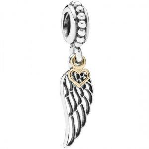 Pandora Angel Wing & Heart Dangle Charm 791389