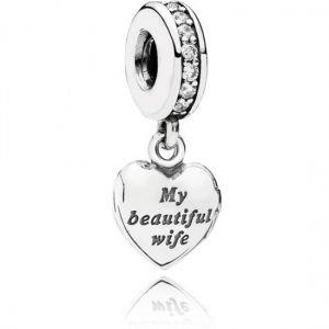 Pandora My Beautiful Wife Dangle Charm-791524CZ