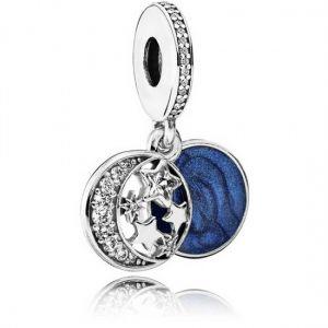 Pandora Moon & Blue Sky Dangle Charm