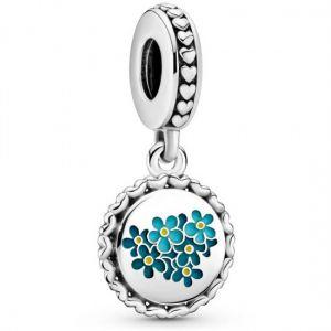 Pandora Blue Forget-Me-Not Flower Dangle Charm