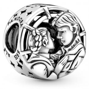 Pandora Star Wars Han Solo & Leia Kiss Charm-799506C00