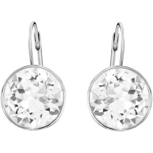 Swarovski Bella Pierced Earrings - White - Rhodium Plated