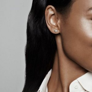 Pandora Rose Sparkling Elevated Heart Stud Earrings-288427c01