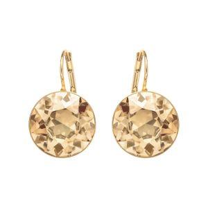 Swarovski Bella Pierced Earrings - Gold Tone