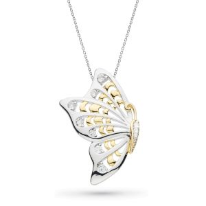Kit Heath Blossom Flyte Butterfly White Topaz Statement Necklace KH90350WT