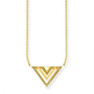 Thomas Sabo Africa Triangle Gold Necklace