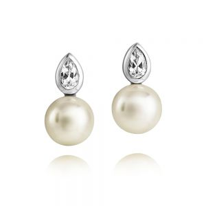 Jersey Pearl Amberley Single Stone Earrings