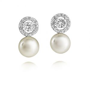 Jersey Pearl Amberley Halo Cluster Earrings