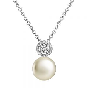 Jersey Pearl Amberley Halo Cluster Pendant