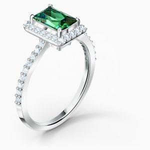 Swarovski Angelic Rectangular Ring - Green