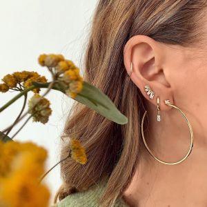 Ania Haie Glow Bar Stud Earrings, Silver E018-04H