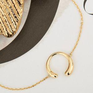 Ania Haie Luxe Curve Bracelet - Gold  B024-01G