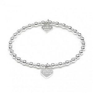 Annie Haak Mini Orchid Silver Charm Bracelet - Fabulous Friend