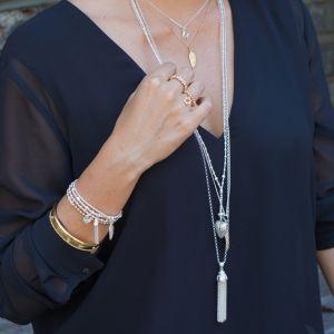 Annie Haak Biji Silver Charm Bracelet - Tassel