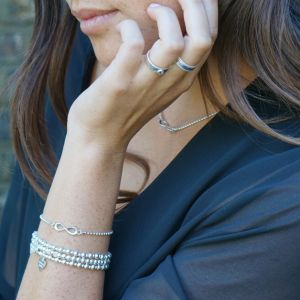 Annie Haak Mini Orchid Silver Charm Bracelet - Fabulous Sister